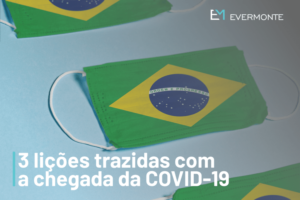 Mascaras com a bandeira do Brasil